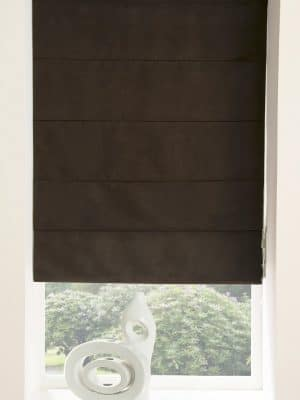 Faux Suede Roman Blind Chocolate