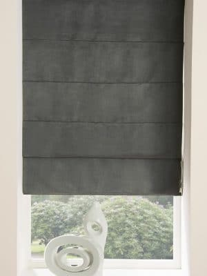 Faux Suede Roman Blind Grey