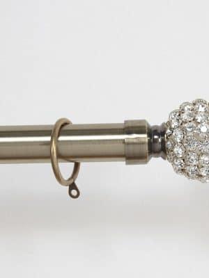 Jewel Antique Brass Steel Finial