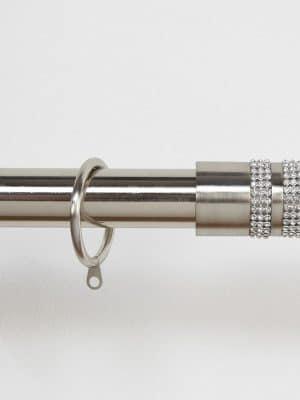Jewel Stripe Brushed Steel Finial