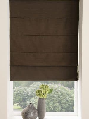 Moonlight Roman Blind Chocolate