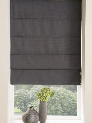 Moonlight Roman Blind Dark Grey