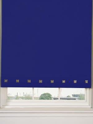 Square Eyelet Royal Blue