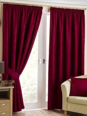 belvoir cranberry pleat curtain