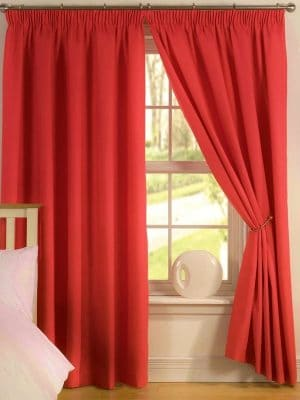 elements red curtains