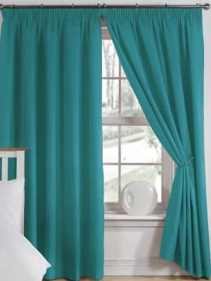 elements teal curtains