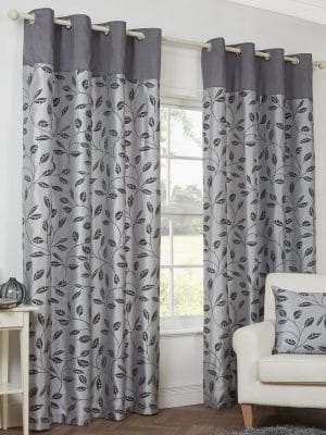 petal grey curtains