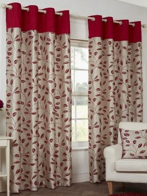 petal red curtains