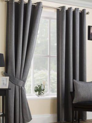 serene black eyelet curtains