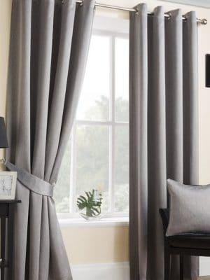 serene grey eyelet curtain
