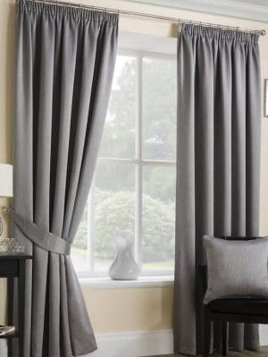 serene grey pleat curtains