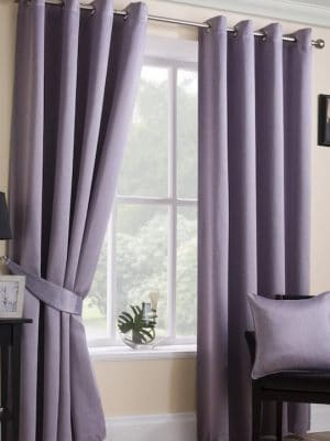 serene mauve eyelet curtains