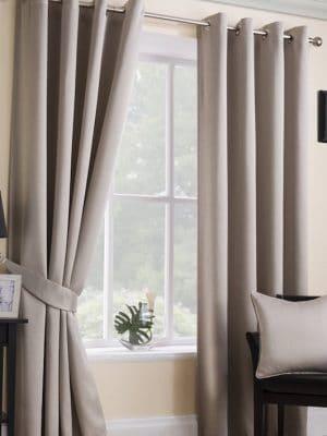 serene natural eyelet curtains