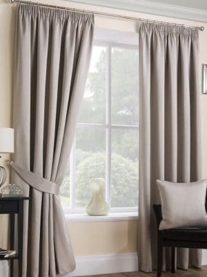 serene natural pleat curtain