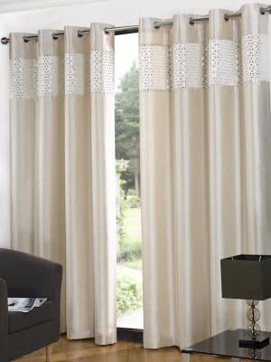 shimmer cream curtain