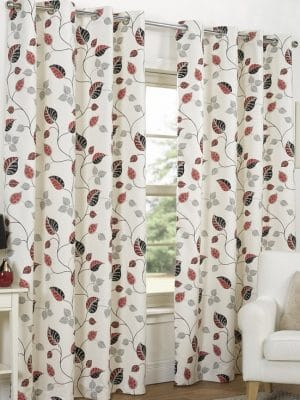 spring cranberry curtains