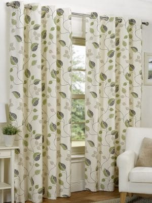 spring green curtains