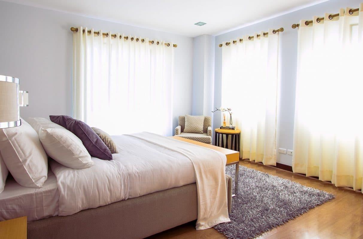 Curtain Poles in Bedroom