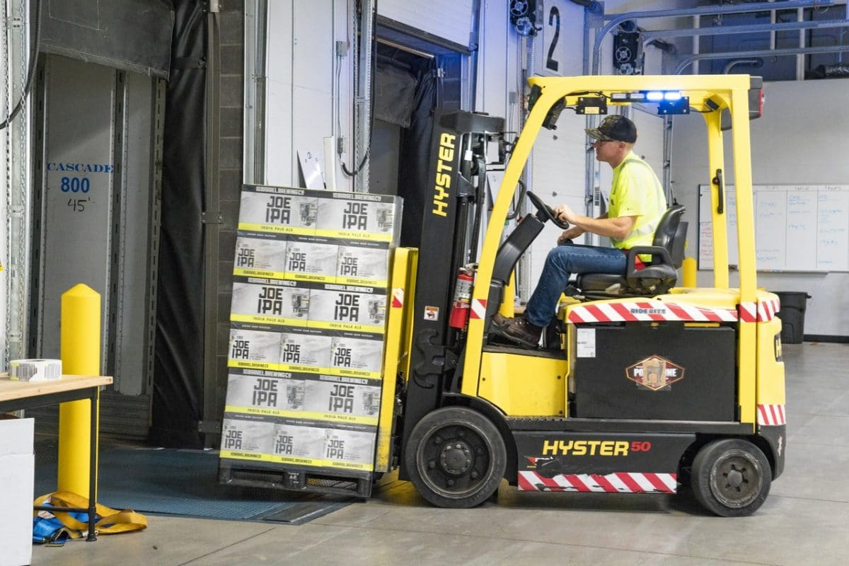 Man using forklift