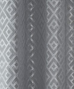 Geometric Curtain Silver