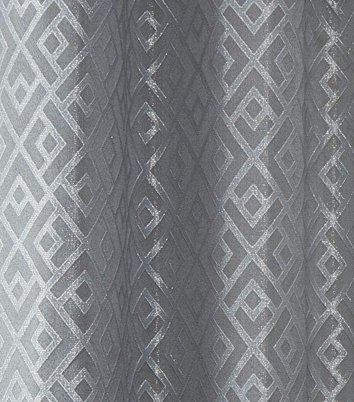 Geometric Curtain Silver
