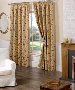 Traditional Lined Pencil Pleat Curtains in Multi