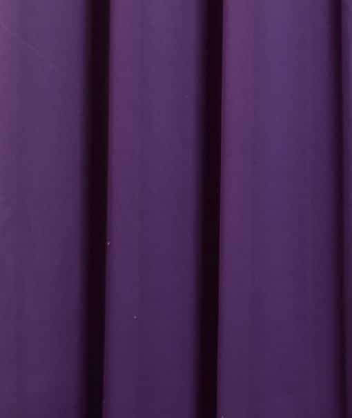 Woven Blackout Pencil Pleat Curtains in Amethyst
