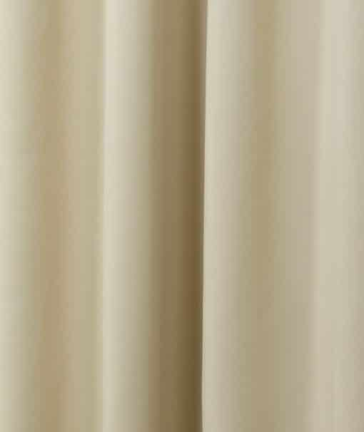 Woven Blackout Pencil Pleat Curtains in Beige