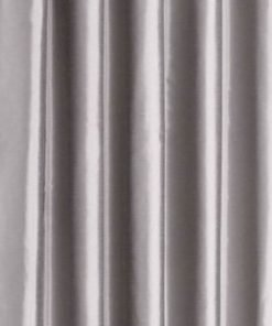 Faux Silk Eyelet Curtain Silver