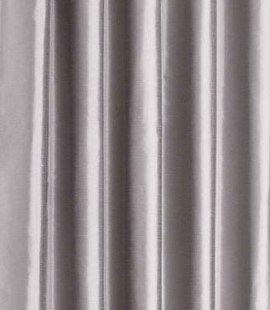 Faux Silk Eyelet Curtain Silver
