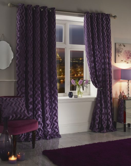 Ripple Velvet Curtain Heather