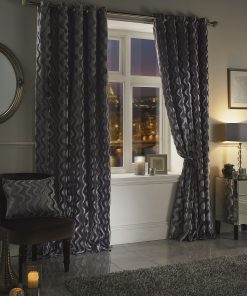Ripple Velvet Curtain Silver