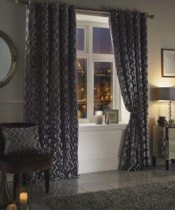 Ripple Velvet Curtain Silver