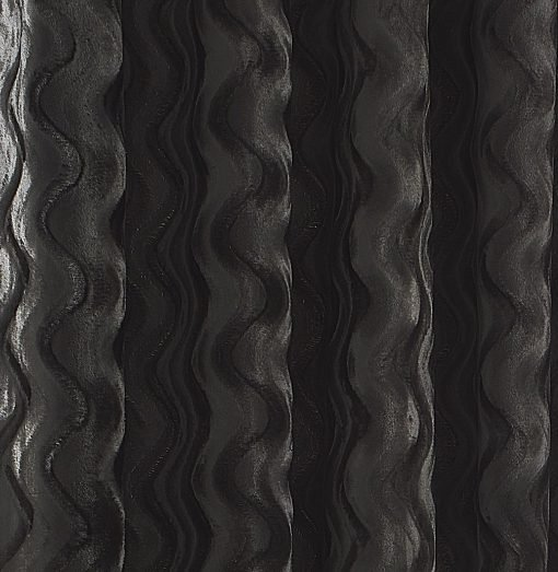 Ripple Velvet Curtain Silver Crop