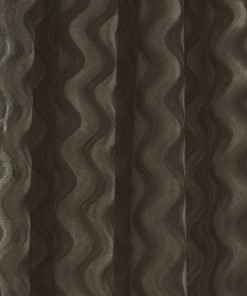 Ripple Velvet Curtain Taupe Crop