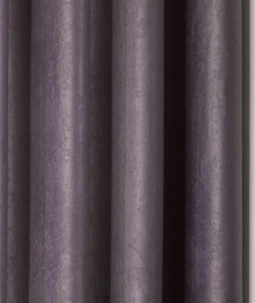 Textured Woven Blackout Eyelet Curtains in Aubergine