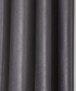 Woven Blackout Eyelet Curtains in Silver