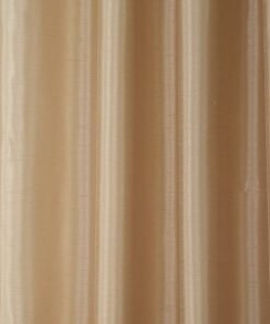 Faux Silk Pencil Pleat Curtain Latte