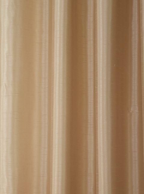 Faux Silk Pencil Pleat Curtain Latte