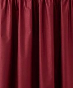 Faux Silk Pencil Pleat Curtain Red Crop