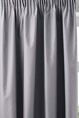 Faux Silk Pencil Pleat Curtain Silver
