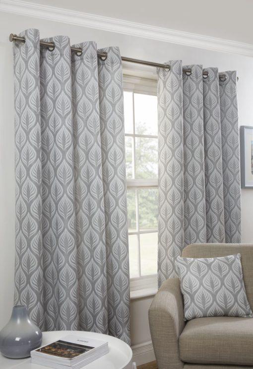 Leaf Curtain Silver