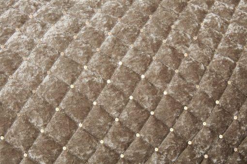Quilted Sequin Velvet Bedspread in Mink