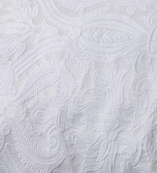 Cotton Rich Jacquard Bedspread in White