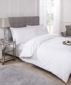 Percale Duvet Set White
