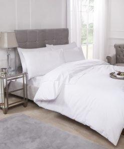 Percale Duvet Set White