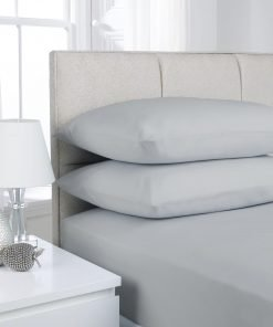 Percale Bed Linen Grey