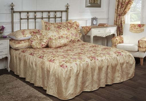 Woven Jacquard Duvet Set with Floral Print in Multi