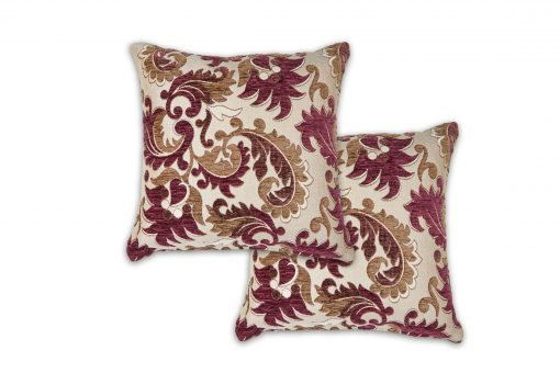 Baroque Style Jacquard Cushion Cover in Aubergine