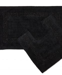 Sparkle Trim 2pc Bathroom Set in Black